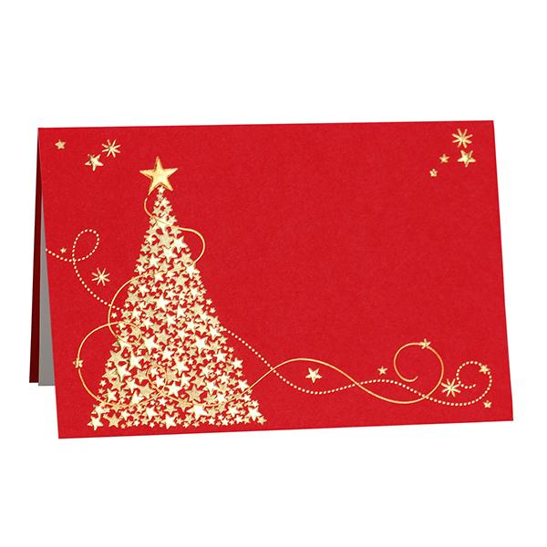 Weihnachtskarte Roter Weihnachtstraum