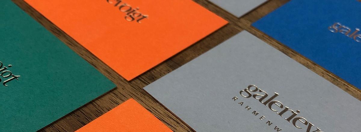 Visitenkarten<br/>Galerie Voigt<br/>