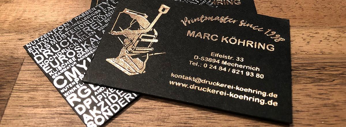 Visitenkarten Druckerei Köhring