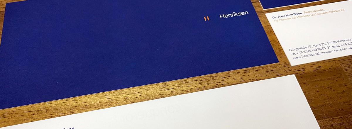 Corporate design<br/>henriksen<br/>