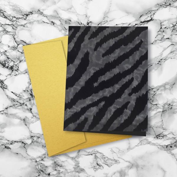 Grußkarte - Ebony Tiger