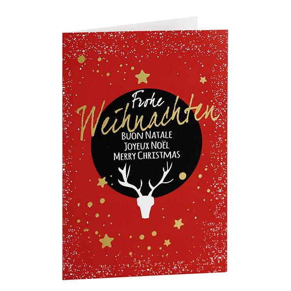 Weihnachtskarte Sternenstaub