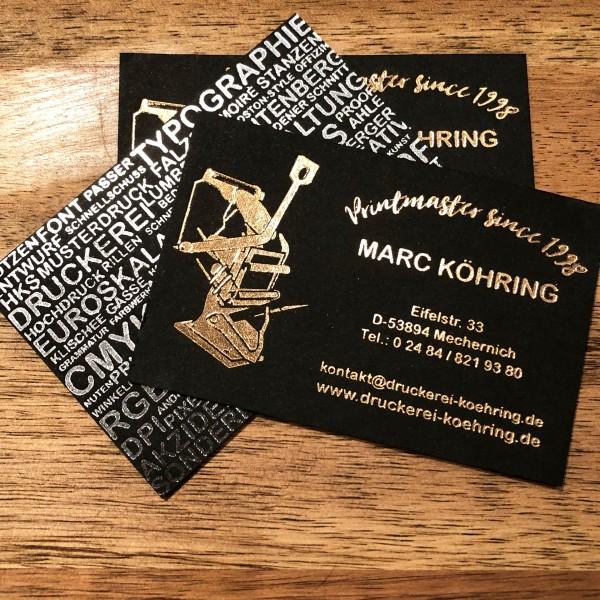 Visitenkarten Druckerei Köhring<br/>