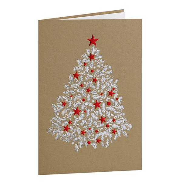 Weihnachtskarte Christbaum geschmückt