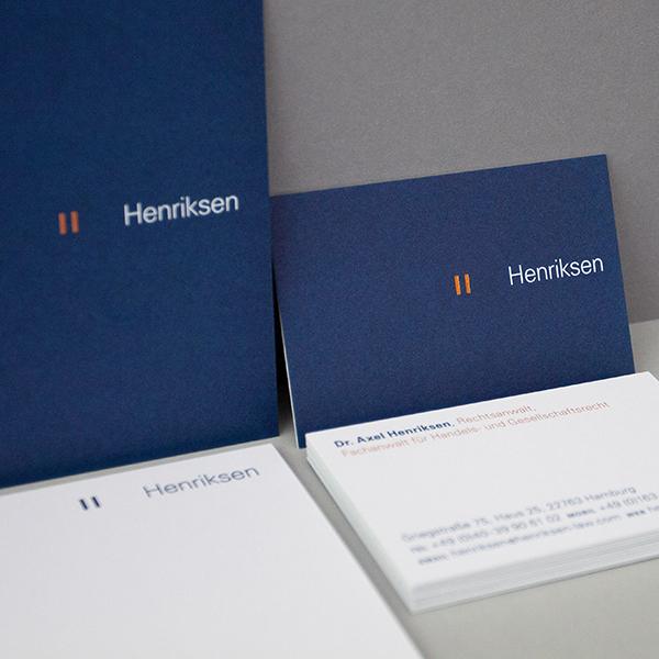 Corporate Identity Henriksen<br/>