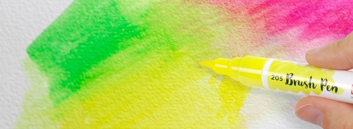 Papier trifft Farbe