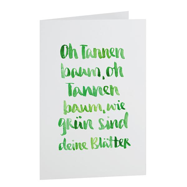 Weihnachtkarte Tannengrün