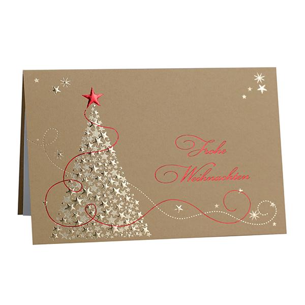 Weihnachtskarte Goldener Weihnachtstraum